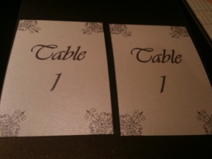 DIY Monday: Tented Table Numbers via TheELD.com