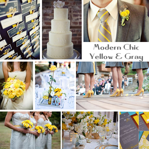 Inspiration Board: Modern Chic Yellow & Gray | Every Last Detail