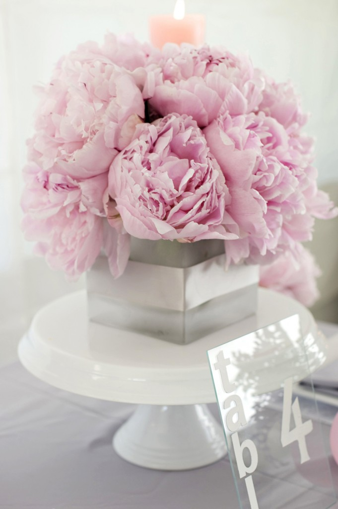 Modern, Chic Pink & Gray Inspiration Shoot {The Details} via TheELD.com