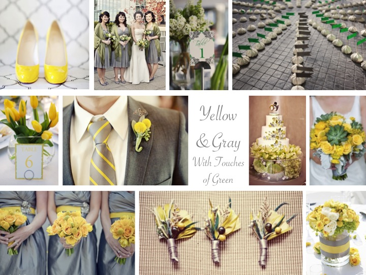 Inspiration Board: Yellow & Gray With Green via TheELD.com