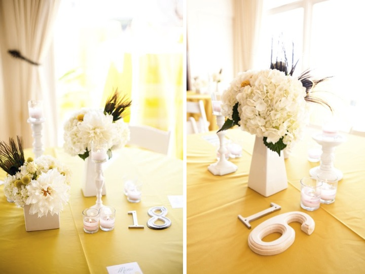 A Yellow & Aqua California Wedding via TheELD.com