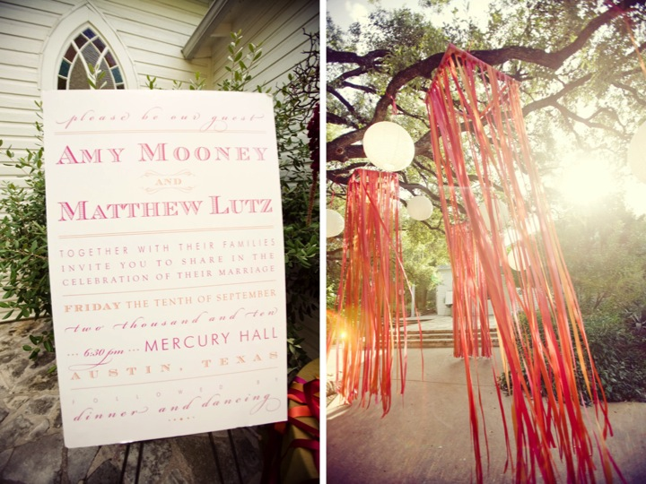 Pink & Orange Whimsical Wedding via TheELD.com