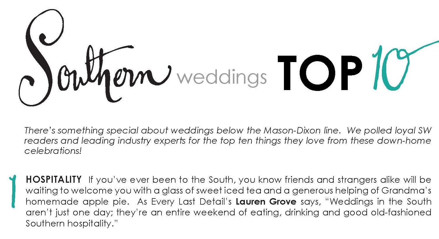 Southern Weddings Excitement! via TheELD.com