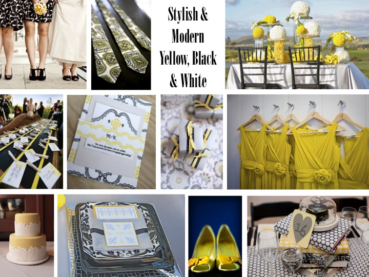 Modern Yellow, Black & White Inspiration Shoot via TheELD.com