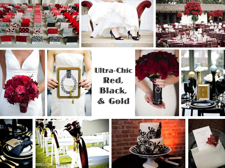 Inspiration Board} Ultra-Chic Red, Black, & Gold | Every Last Detail