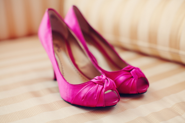 Pink High Heels For Wedding: Bright, Modern Pink & Orange Wedding: Part 1