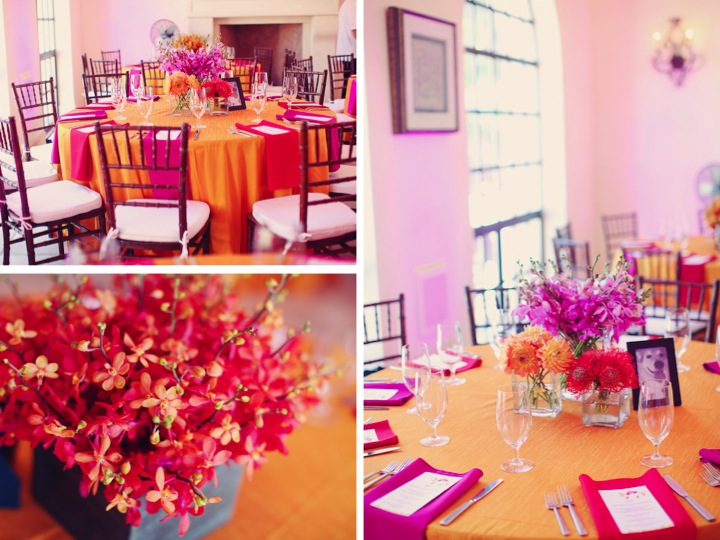 Modern Pink Orange Wedding Part 2 Via Theeld