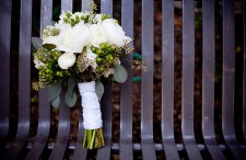 9 green and white bouquet