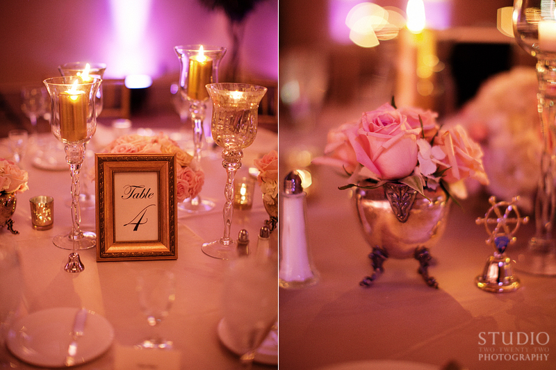 Pink Vintage Glam Wedding via TheELD.com
