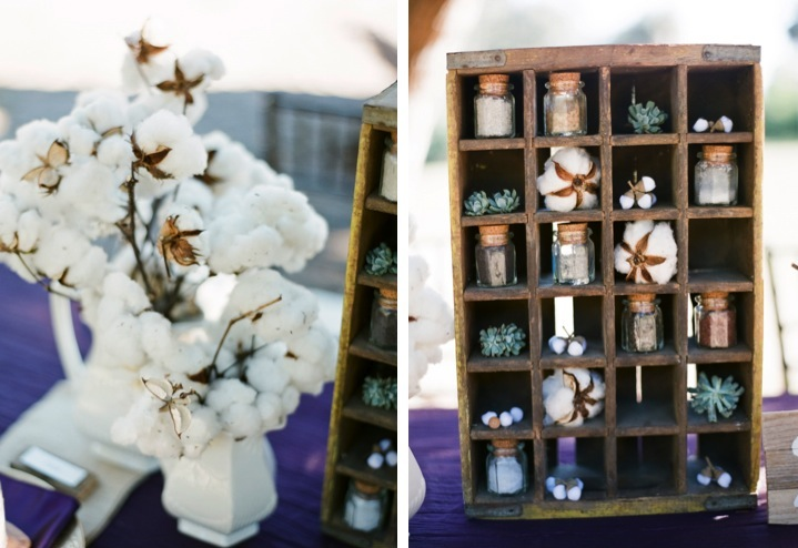 Purple Rustic Chic Inspiration Shoot via TheELD.com