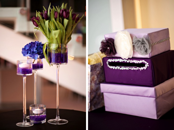 Modern Chic Purple Florida Wedding via TheELD.com
