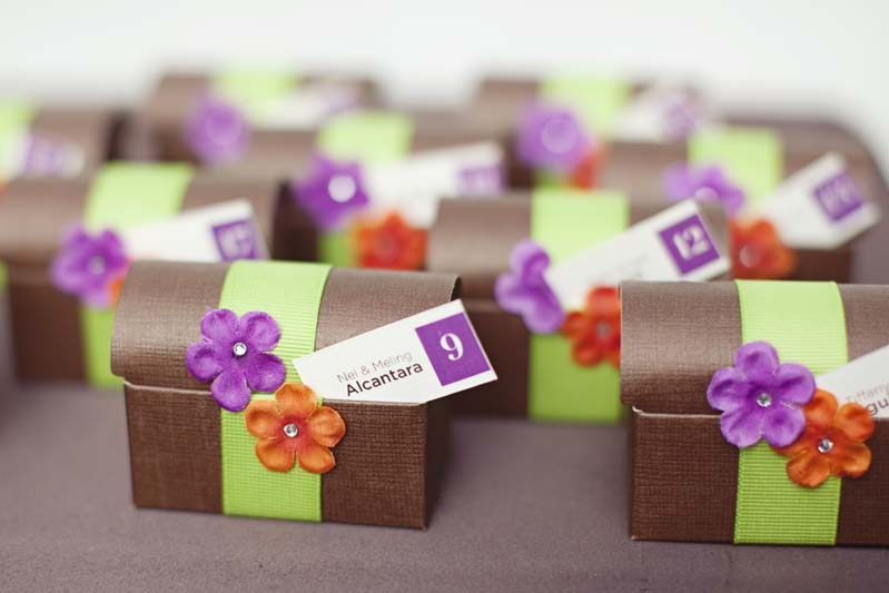 Eclectic purple orange green wedding every last detail eclectic purple orange green wedding via theeld junglespirit