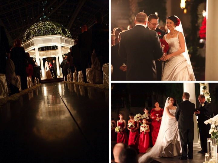 Elegant Red and Black Wedding via TheELD.com