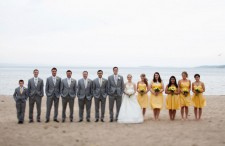 Yellow Lakeside Wedding 15