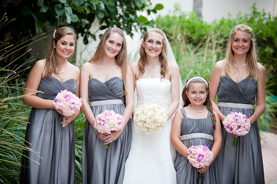 Classic, Elegant Pink & Gray Wedding via TheELD.com