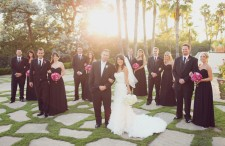Pink and black California wedding 23