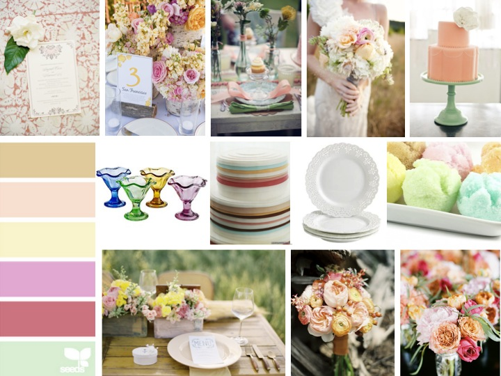 Inspiration Board: Dainty Sherbet via TheELD.com