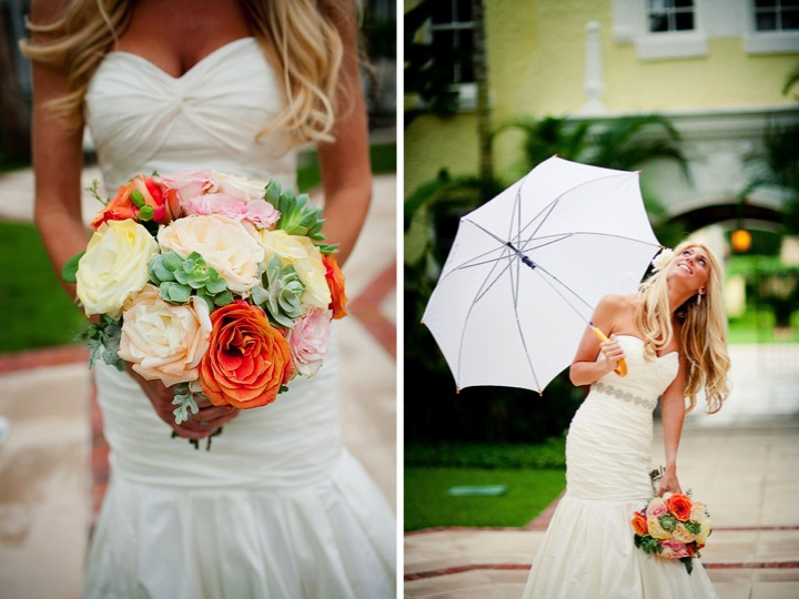 Vintage Shabby Chic Florida Wedding By Ashton Events via TheELD.com