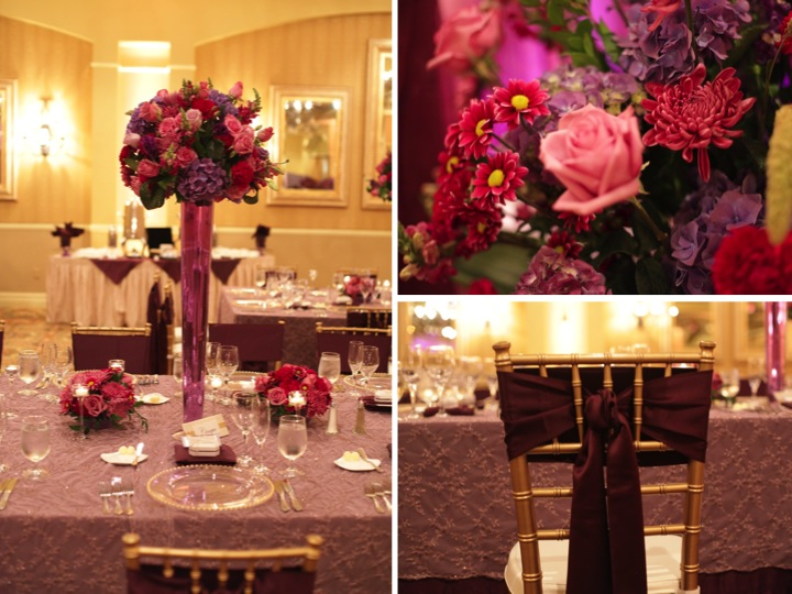 Elegant Purple Ballroom Wedding via TheELD.com