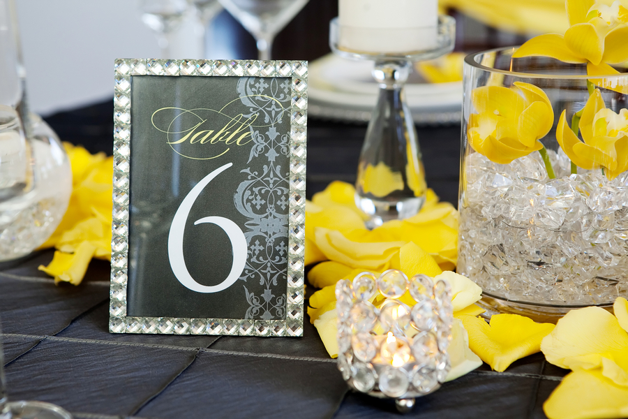 Modern Yellow & Slate Wedding Inspiration via TheELD.com