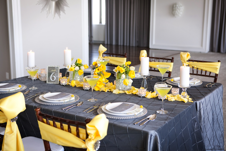 Modern yellow slate wedding inspiration every last detail modern yellow slate wedding inspiration via theeld junglespirit Choice Image