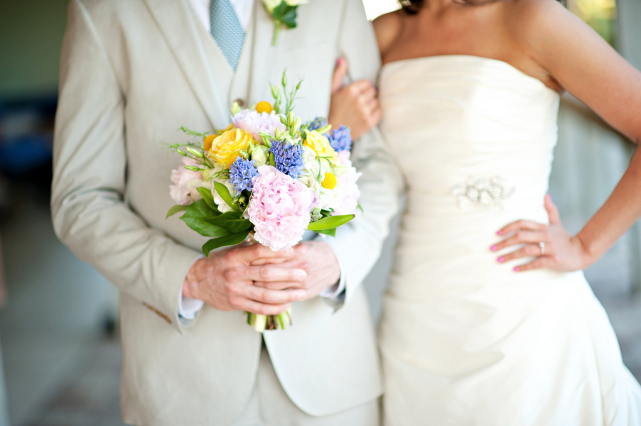 Eclectic Chic Navy, Pink, and Yellow Wedding   Every Last Detail