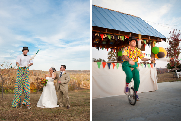 Eclectic Carnival Themed Tennessee Wedding via TheELD.com