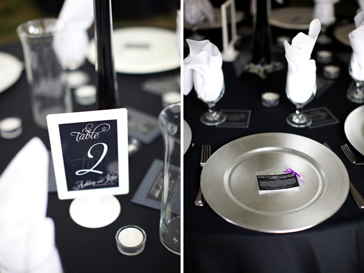 Modern Purple and Black St. Louis Wedding {Part 2} via TheELD.com
