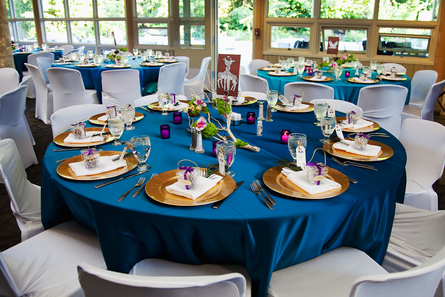 Wedding Decoration Blue And Gold
