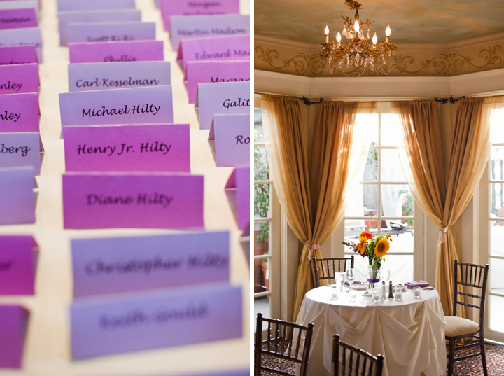 Eclectic DIY Purple and Yellow Wedding via TheELD.com
