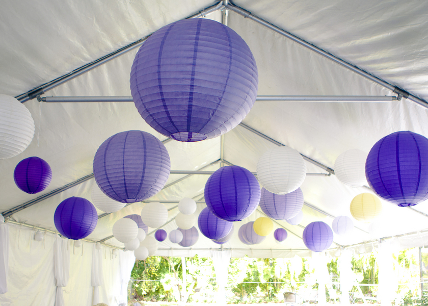Purple and Yellow DIY Florida Wedding via TheELD.com
