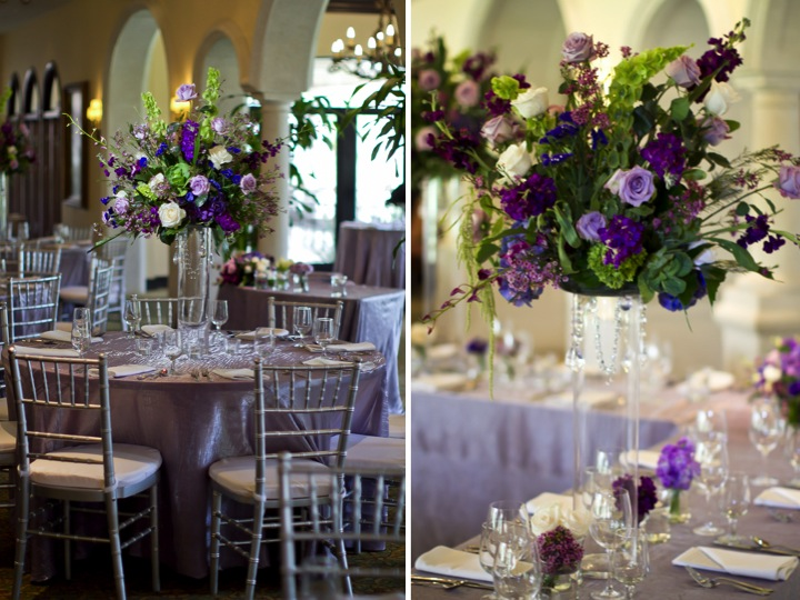 Elegant Lavender Florida Wedding via TheELD.com