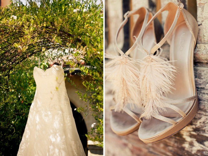 Blush Pink & Navy Vintage Chic Wedding via TheELD.com