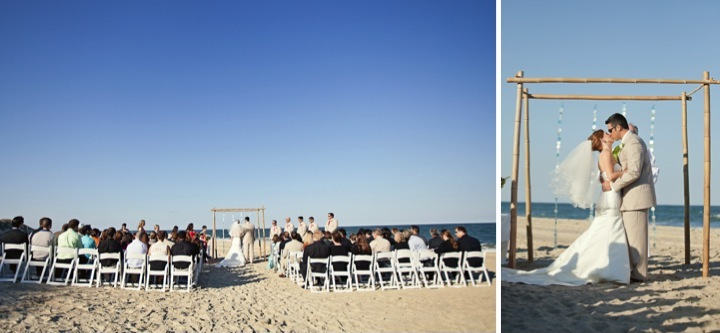 Modern Red & Aqua Outer Banks Wedding via TheELD.com