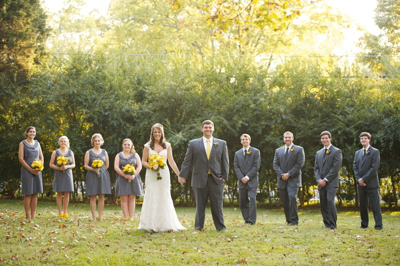 Rustic Chic Yellow Gray Wedding Via Theeld