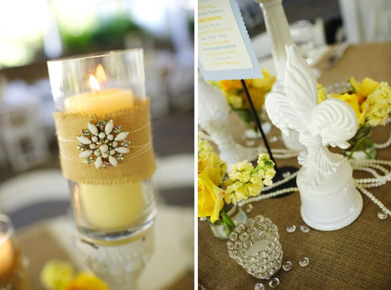 Rustic Chic Yellow & Gray Wedding via TheELD.com