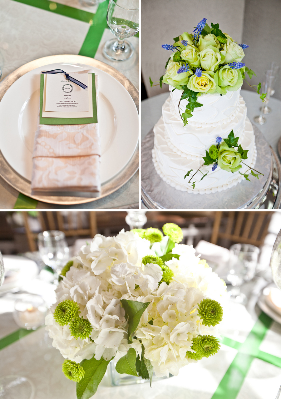Classic Green and Blue Connecticut Wedding via TheELD.com