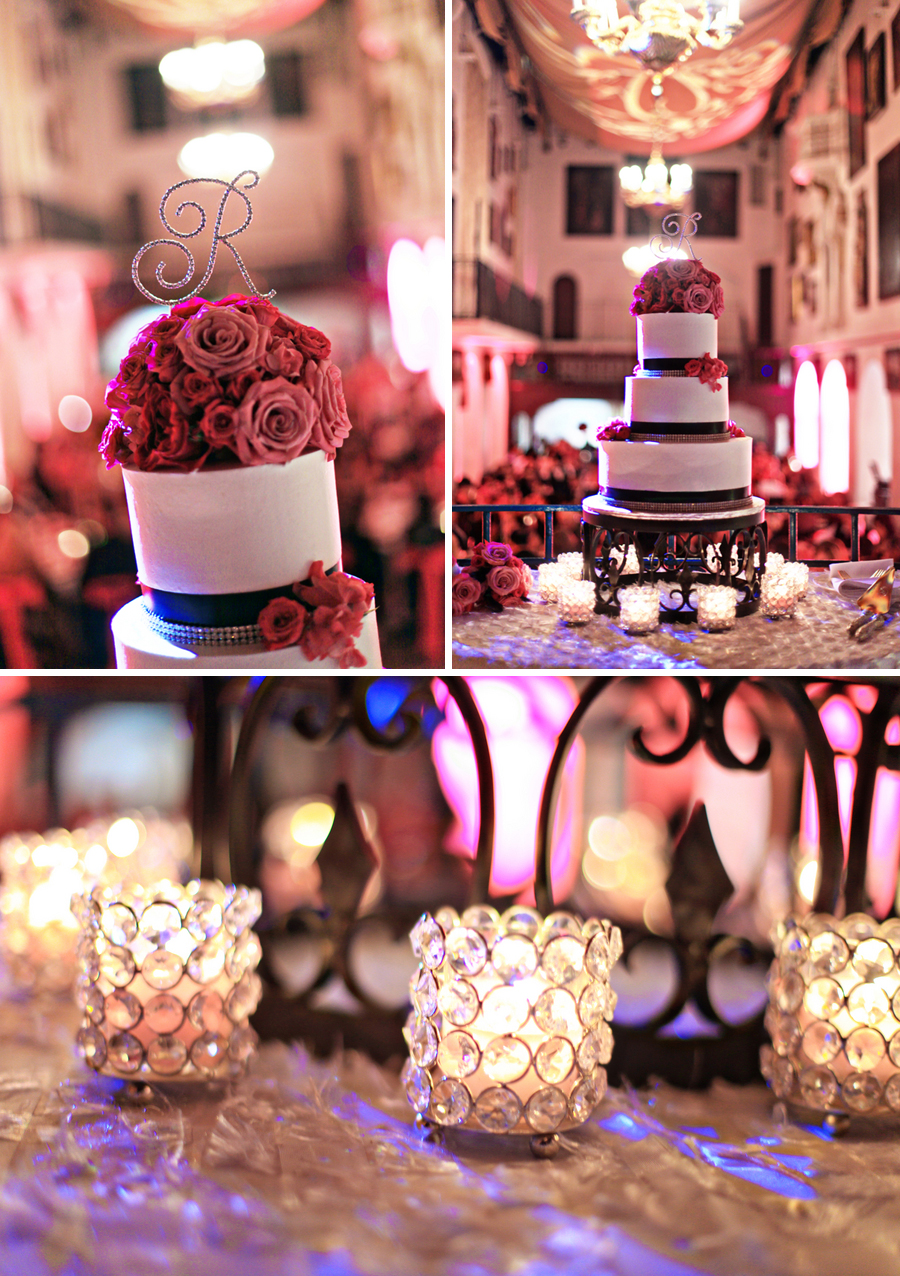 Colorful Pink and Black California Wedding via TheELD.com