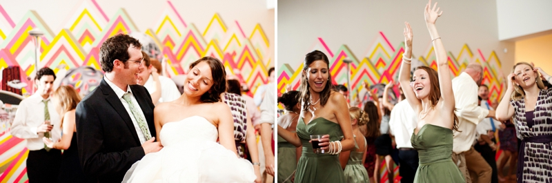 Modern Green & Black Eco Friendly Wedding via TheELD.com