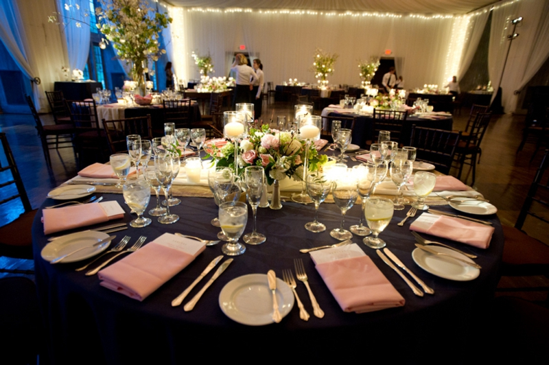 Navy linens wedding