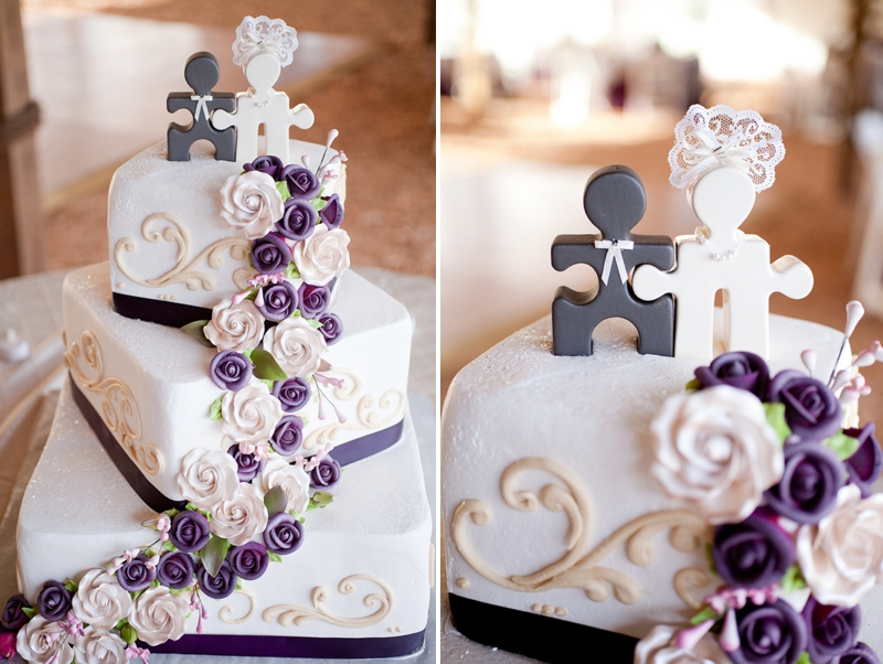 Purple Rustic Chic Wedding Via TheELD