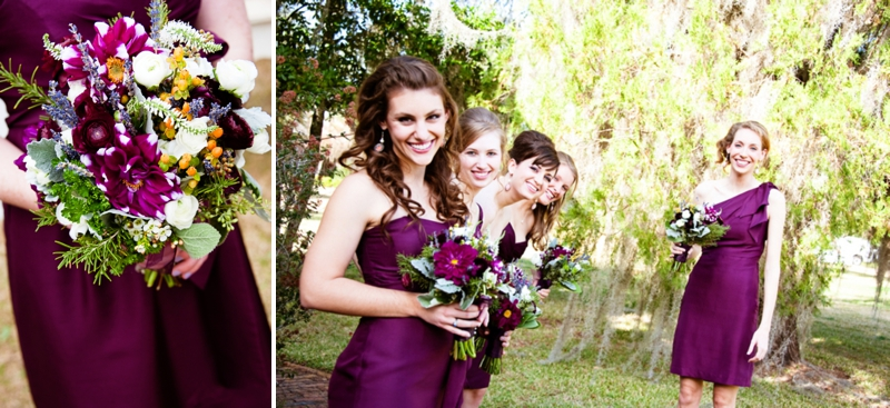 Purple Green Gray Plantation Wedding Via Theeld