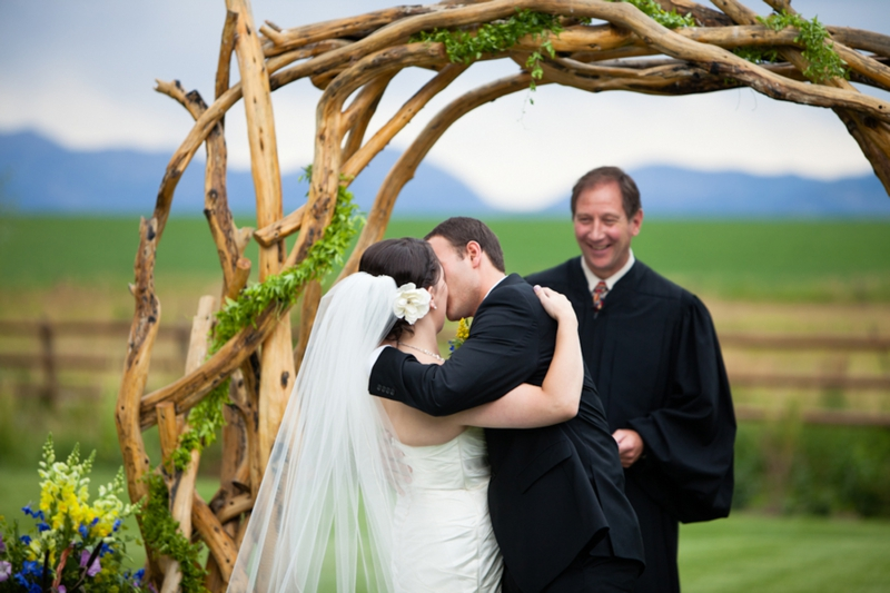 Rustic Chemistry Themed Montana Wedding via TheELD.com