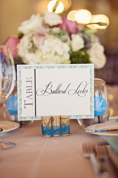 An Elegant Pink & Aqua Seattle Wedding via TheELD.com