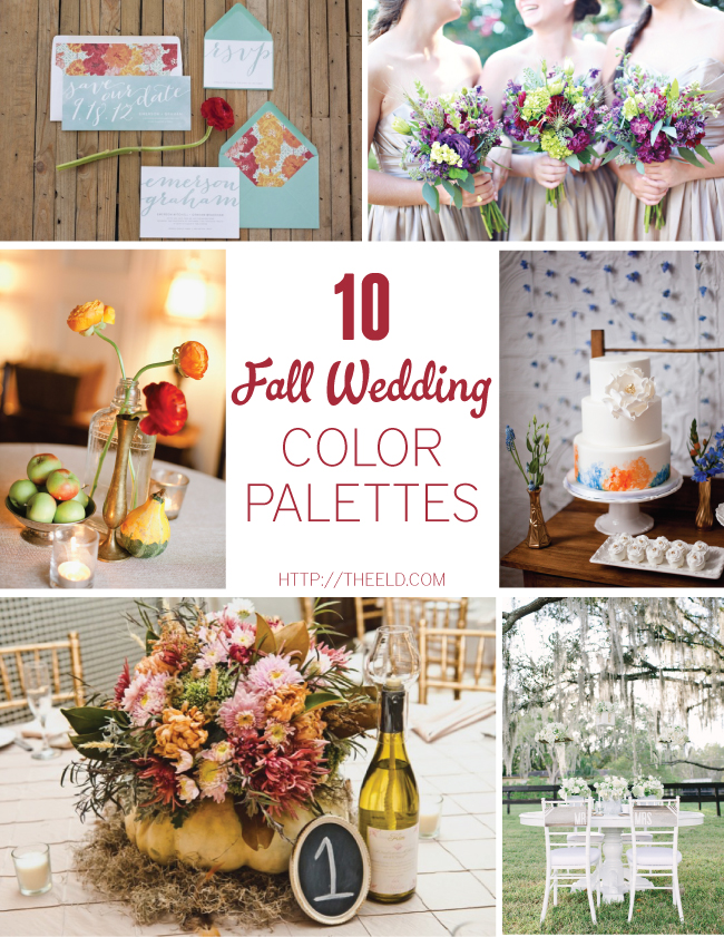 10 gorgeous fall wedding color palettes every last detail 10 gorgeous fall wedding color palettes junglespirit Gallery