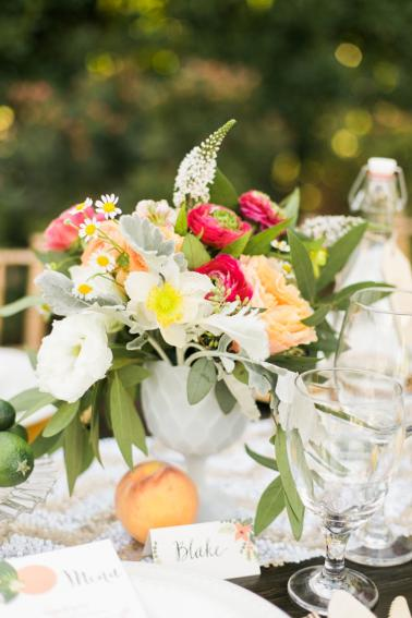Chic & Charming Peach Wedding Ideas via TheELD.com