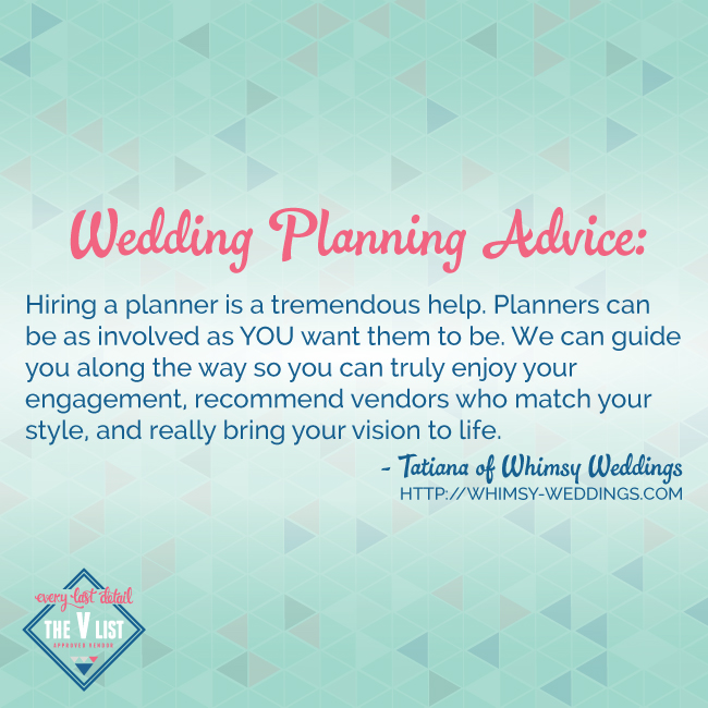 wedding planning advice hiring a planner is a tremendous